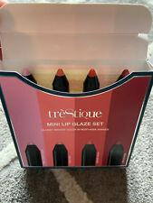 Trestique Mini Lip Glaze Set Of 4  Rose/Sheer/Peach/Paris Pink NEW IN BOX IPSY