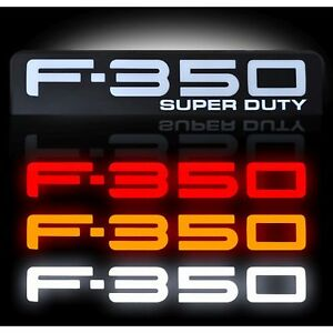 RECON 264186BK 08-10 Ford F350 Black Emblems Illuminated Side