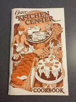 1979 Oster Kitchen Center Food Preparation Vintage Cookbook Instruction Manual