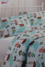 2 pc Cozee Quilts Pirates of the Sea Twin Quilt & Sham Set Nip
