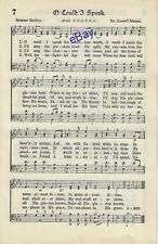 Elvis Presley Personal Owned Used Hymnal Page O Could I Speak
