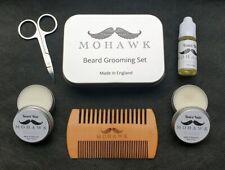 Beard Grooming Gift Kit. Mohawk. Balm, Wax, Oil, Comb, Scissors & Gift Tin.