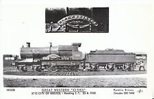 Railway Postcard - Great Western Train 3712 City of Bristol - Reading T.T - U564