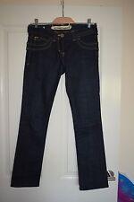 River Island Dark Blue Denim Jeans Slim Leg Size UK 8