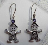 Gemstone Solid Silver, 925 Bali Handcrafted Doll Design Earring 29985