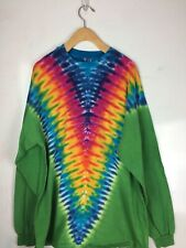 vintage Tie Dyed Long Sleeve shirt Mens Xl Hippie Psychedelic 420 Hanes 90s