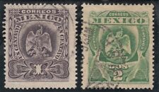 Mexico 1903.  Coat of Arms. 1c dark purple and 2c light green. Used