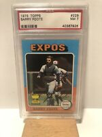 1975 Topps Barry Foote - Montreal Expos - All-Star Rookie Cup - PSA 7
