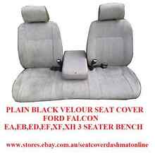 PLAIN BLACK  SEAT COVER FORD FALCON EA-XF FOLD CENTRE,3 SEATER WITH FOLD CENTRE