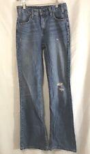 Women's Levi's Orange Tab Light Wash Regular Fit Flared Leg Jeans Size 25