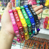 Hot Adjustable Small Size Pet Cat Puppy Dog Collar Band With Ring Bell Buckle