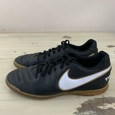 NIKE TIEMPOX - Black Indoor Soccer Football Shoes, Mens Sz 9 - MUST SEE!