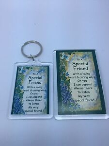 TO A SPECIAL FRIEND Keyring or Fridge Magnet - FAMILY GIFT PRESENT IDEA