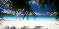 "Infrarotheizung Elegance - Glas rahmenlos, 700 Watt, Motiv ""Karibik"""