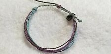 Pura vida blue multiple colored bracelet silver charm