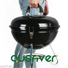 Portable Stainless Steel BBQ Round Grill Small Camping Outdoor Party Picnic