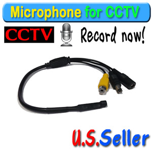 Microphone Audio High Sensitive  Mic  for CCTV Security Camera DVR System