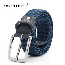 Men's Women's Elastic Expandable Braided Fabric Woven Stretch Belts
