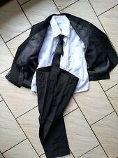 Costume 5 Pièces 4 ans Enfant Garçon noir cravate veste chemise gilet neuf