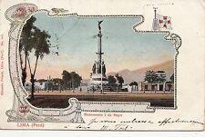 B81828 lima monumento 2 de mayo lima peru front/back image