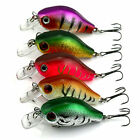 Popular 5pcs Plastic Fishing Lures Bass CrankBait Crank Bait Tackle 5.5cm/8g Set