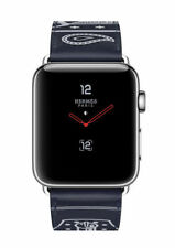 Apple Watch Hermès 42mm Stainless Steel Case with Marine Gala Leather Single Tour Eperon d'Or Classic Buckle (GPS + Cellular) - (MQX62LL/A)