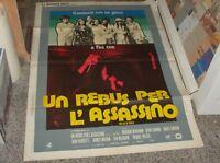 A Rebus For L'Assassin Manifesto 2F Original 1973