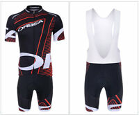 KJU341 Mens Bike Racing Team Cycling Short Sleeve Jersey bib Shorts Outfits