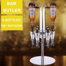 Rotary Wall Mount 6 Bottle Stand Drinks Optics Dispenser Wine Spirits Bar Butler