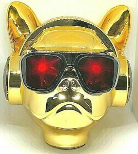 BULLDOG BLUETHOOTH SHINY GOLDEN SPEAKER OUT PUT 10 WATTS