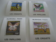 Burkina Faso-1996-fauna,flora-insects-deluxe MI.1419-22