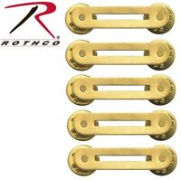 YOU GET (5) Military Issue Brass Single Ribbon Mount Rothco 71001