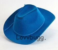 "Blue Cowboy Cowgirl Riding Hat for 15"" 18"" American Girl Doll Clothes Lovvbugg!"