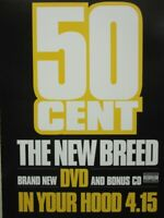 50 CENT 2003 The New Breed DVD/CD promotional poster Flawless New Old Stock