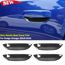 Exterior Door Handle Bowl Cover Trim Accessories for Dodge Charger 2015+ Carbon