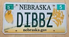 "GRAPHIC BIRD VANITY LICENSE PLATE "" DIBBZ "" DIBBS NEXT IN LINE"