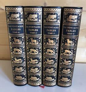 4 Volumes Tomes Livre La Fontaine Fables de Jean De Bonnot Paris