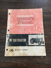 Massey Ferguson MF 150 Antique Tractor Manual Harris John Deere White Oliver