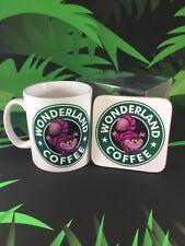 WONDERLAND COFFEE - Cheshire Cat  MUG & COASTER SET