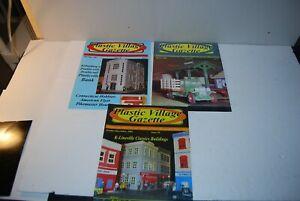Plasticville Village Gazette Magazine  Collector     3 Copies