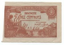 PORTUGAL 10 CENTAVOS 1917 PICK 96 LOOK SCANS
