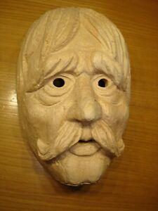 Maskenrohling Mann Nr.3581 , Fasnet, Rohling, Holzmaske Larve,