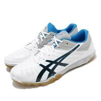 Asics Attack Excounter 2 White Grey Blue Men Table Tennis Shoes 1073A002-100