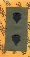 US Army Enlisted SPECIALIST FIFTH CLASS SPEC-5 E-5 OD Green & Black rank patch