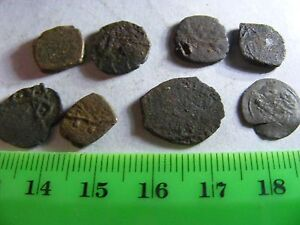 Lot of 8 ANTIQUE Ottoman/Muslim Copper Coins,mixed good condition used.(K).