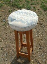 000 Vintage Solid Wood Bar Stool Oak? 80's Padded Top