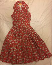 BERNIE DEXTER MARNI rouge Chaton Robe Taille XS-S