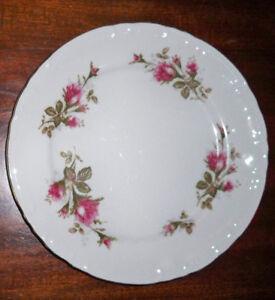 GrantCrest ROYAL ROSE Dinner Plates Set of 3 ; Gold Trim; NO CHIPS; VGC;UNUSED