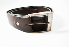 Mens Leather Belt Thick Leather Brown