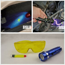 LED Flash Light+Safety Glasses w/ Car Air Conditioning A/C Gas UV Leak Detection